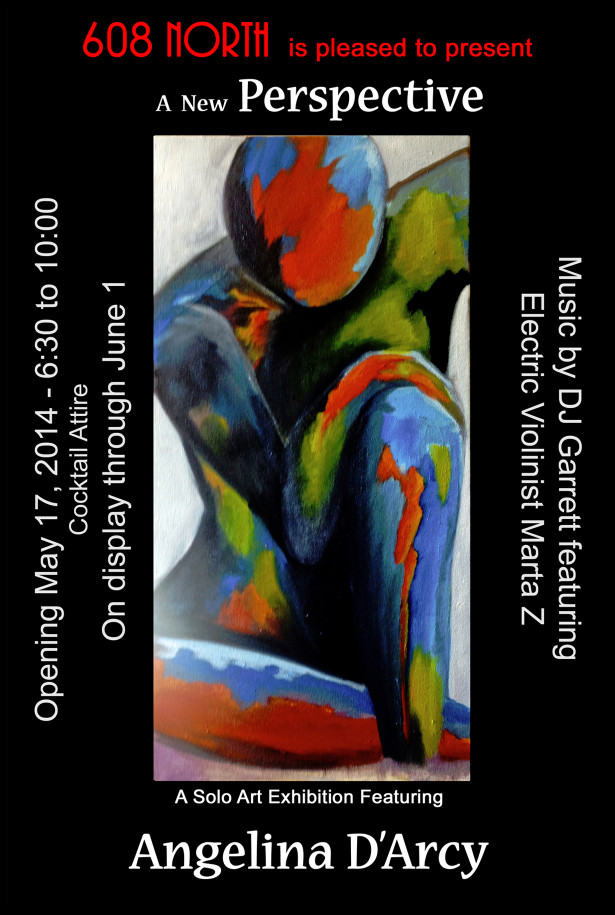 Solo art exhibition featuring Angelina D'Arcy
